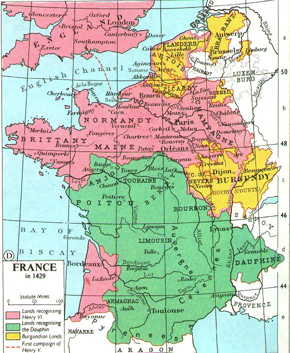Map Of France 1600.English 215 Lecture 4